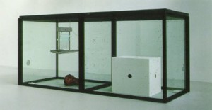 damien-hirst-a-thousand-years-1990-steel-glass-flies-maggots-mdf-insect-o-cutor-cows-head-sugar-water