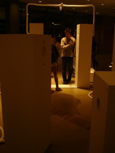 TA John Carpenter getting interactive with media art, literally.