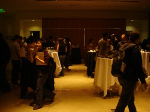 A snapshot of the festivities running amok during the mixer