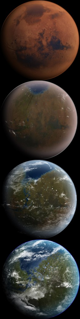 The Terraformation of Mars, a reality with nanotechnology?