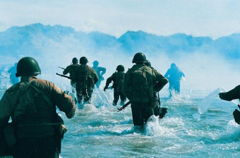D Day Invasion Color troops landed on D-Day was